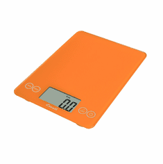 Escali Arti Glass Digital Scale, 15 Lb / 7 Kg, Overly Orange, Model 157OO