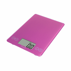 Escali Arti Glass Digital Scale, 15 Lb / 7 Kg, Poppin' Pink, Model 157PP