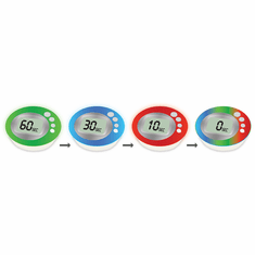 Escali ColorFun Luminous Digital Timer, Model DR4