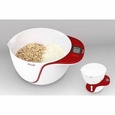 Escali Taso Mixing Bowl Scale11 Lb / 5 KgApple Red, Model# MB115AR