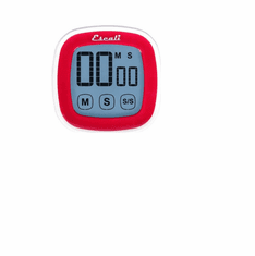 Escali Touch Screen Digital Timer, Red, Model DR3-R