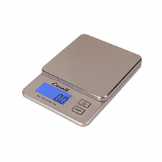Escali Vera Compact Digital Scale, 4.4 lb / 2 Kg, Silver-Grey, Model PR2000S