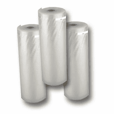 "Excalibur 8"" X 22 ft Vacuum Sealer Bag Rolls, 3 Rolls, Model # EVBR-822-3"