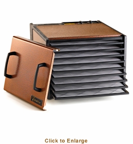 Excalibur 9 Tray Antique Copper Timer Dehydrator, Model# D900AC
