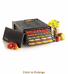 Excalibur Deluxe Series Ed-3500 Five-Tray Black Dehydrator, Model# ED-3500B