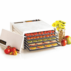 Excalibur Deluxe Series 3500 Five-Tray White Dehydrator, Model# 3500W
