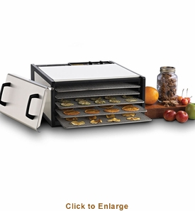 Excalibur Ss 5 Tray Dehydrator With Ss Trays, Model# D500SHD