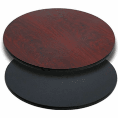 Flash Furniture 30'' Round Table Top with Natural or Walnut Reversible Laminate Top Model XU-RD-30-MBT-GG