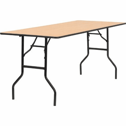 Flash Furniture 30'' x 96'' Rectangular Wood Folding Banquet Table with Clear Coated Finished Top Model YT-WTFT30X72-TBL-GG