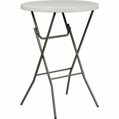 Flash Furniture 32'' Round Granite White Plastic Bar Height Folding Table, Model RB-32RB-BAR-GW-GG