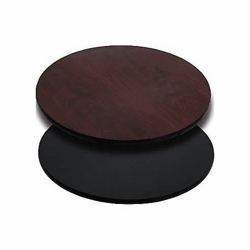 Flash Furniture 36'' Round Table Top with Natural or Walnut Reversible Laminate Top Model XU-RD-36-MBT-GG