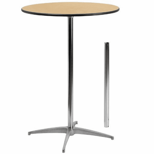 Flash Furniture 36'' Round Wood Cocktail Table with 30'' and 42'' Columns Model XA-30-COTA-GG
