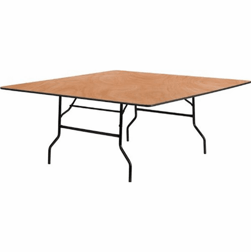 Flash Furniture 48'' Half-Round Wood Folding Banquet Table Model YT-WFFT72-SQ-GG