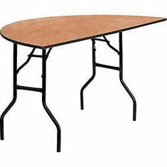 Flash Furniture 48'' Round Wood Folding Banquet Table with Clear Coated Finished Top Model YT-WHRFT72-HF-GG