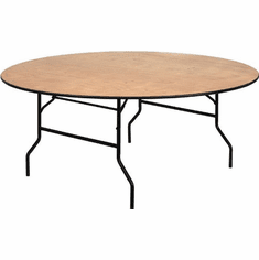 Flash Furniture 5.5 ft. x 2 ft. Serpentine Wood Folding Banquet Table Model YT-WRFT72-TBL-GG