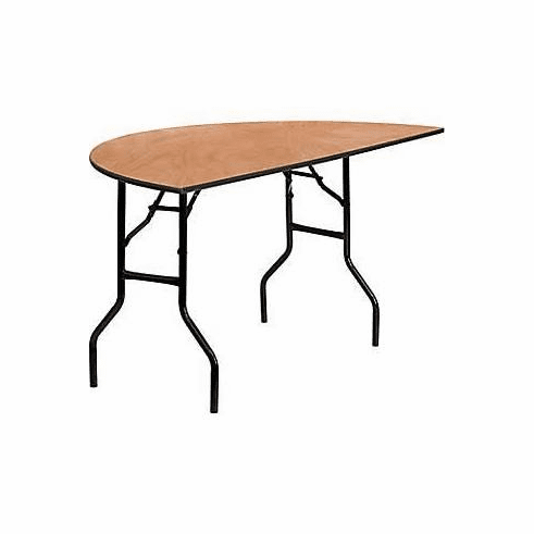 Flash Furniture 60'' Half-Round Wood Folding Banquet Table Model YT-WHRFT48-HF-GG