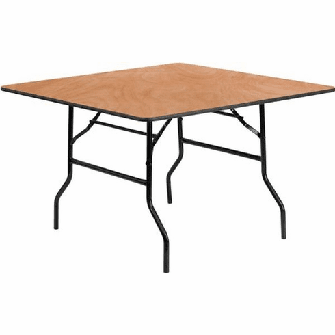 Flash Furniture 60'' Square Wood Folding Banquet Table Model YT-WFFT48-SQ-GG