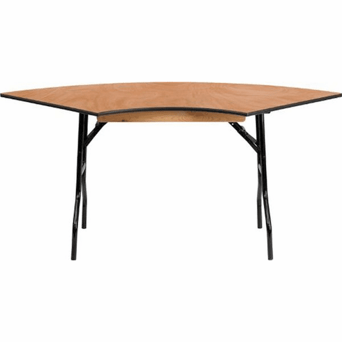 Flash Furniture 7.25 ft. x 2.5 ft. Serpentine Wood Folding Banquet Table Model YT-WSFT48-30-SP-GG