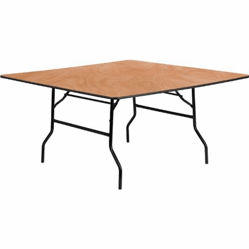 Flash Furniture 72'' Square Wood Folding Banquet Table Model YT-WFFT60-SQ-GG