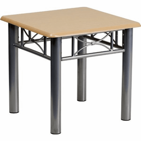 Flash Furniture Adjustable Drawing and Drafting Table with Pewter Frame Model JB-6-END-NAT-GG
