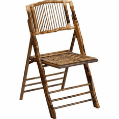 Flash Furniture American Champion Bamboo Folding Chair Model X-62111-BAM-GG