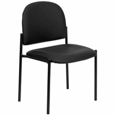 Flash Furniture Black Fabric Comfortable Stackable Steel Side Chair with Arms Model BT-515-1-VINYL-GG