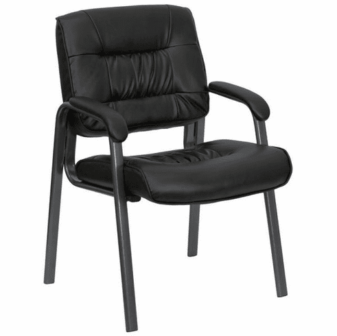 Flash Furniture Black Fabric Executive Side Chair with Sled Base Model BT-1404-BKGY-GG