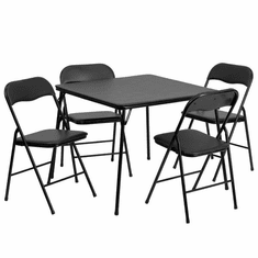Flash Furniture Black Folding Card Table Model JB-1-GG