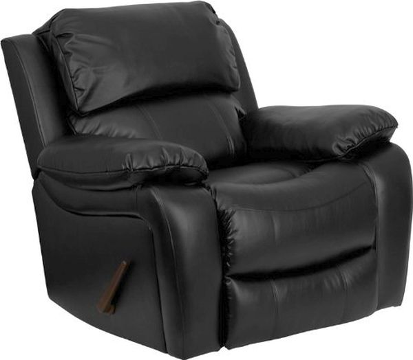 Flash Furniture Black Leather Rocker Recliner Men Da3439 91 Bk Gg