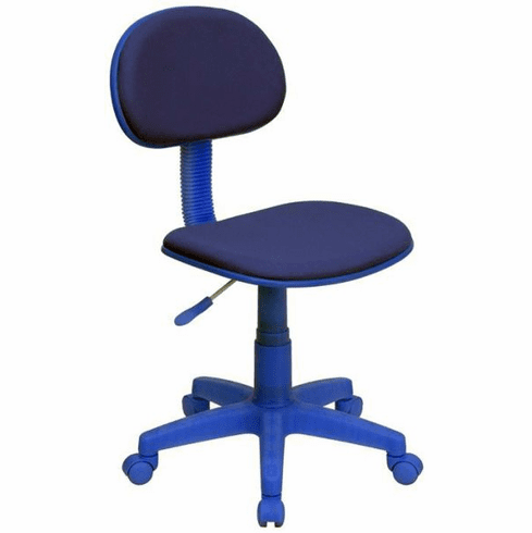 Flash Furniture Blue Fabric Ergonomic Task Chair, Model BT-698-BLUE-GG