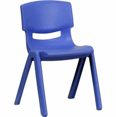 Flash Furniture Blue Plastic Stackable School Chair with 13.25'' Seat Height Model YU-YCX-004-BLUE-GG
