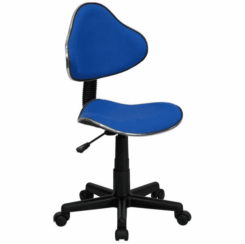 Flash Furniture Bridgewater State University Bears Embroidered Black Mesh Task Chair with Arms and Chrome Base Model BT-699-BLUE-GG