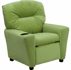 Flash Furniture Contemporary Avocado Microfiber Kids Recliner with Cup Holder Model BT-7950-KID-MIC-AVO-GG