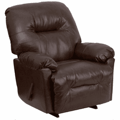Flash Furniture Contemporary Bentley Brown Leather Chaise Rocker Recliner Model AM-C9350-9075-GG
