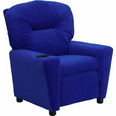 Flash Furniture Contemporary Blue Vinyl Kids Recliner with Cup Holder Model BT-7950-KID-BLUE-GG