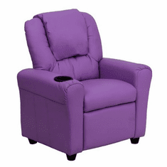 Flash Furniture Contemporary Lavender Vinyl Kids Recliner with Cup Holder and Headrest Model DG-ULT-KID-LAV-GG