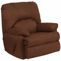 Flash Furniture Contemporary Montana Chocolate Microfiber Suede Rocker Recliner Model WM-8500-263-GG