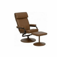 Flash Furniture Contemporary Palomino Leather Recliner and Ottoman with Leather Wrapped Base Model BT-7863-PALOMINO-GG