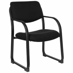 Flash Furniture Gray Fabric Executive Side Chair with Sled Base Model BT-508-BK-GG