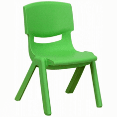 Flash Furniture Green Plastic Stackable School Chair with 10.5'' Seat Height Model YU-YCX-003-GREEN-GG