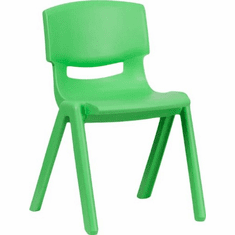 Flash Furniture Green Plastic Stackable School Chair with 13.25'' Seat Height Model YU-YCX-004-GREEN-GG