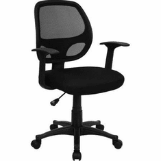 Flash Furniture HERCULES Definity Series Contemporary Black Leather Chair with Stainless Steel Frame Model LF-W-61B-2-GG