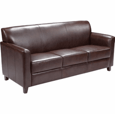Flash Furniture HERCULES Envoy Series Black Leather Sofa Model BT-827-3-BN-GG