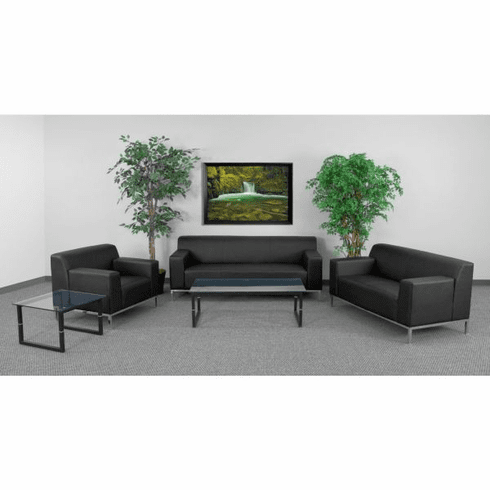 Flash Furniture HERCULES Flash Series Reception Set in Black Model ZB-DEFINITY-8009-SET-BK-GG