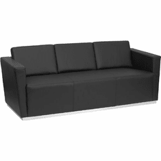 Flash Furniture HERCULES Imperial Series Reception Set in Black Model ZB-TRINITY-8094-SET-BK-GG