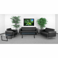 Flash Furniture HERCULES Lesley Series Reception Set in Light Brown Model ZB-LESLEY-8090-SET-BK-GG