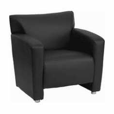 Flash Furniture HERCULES Majesty Series Brown Leather Chair Model 222-1-BK-GG