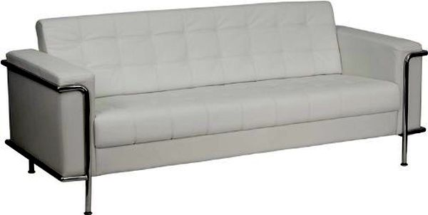 Flash Furniture HERCULES Regal White Sofa|ZB-LESLEY-8090-SOFA-WH-GG