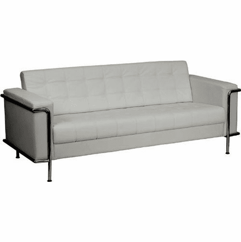 Awesome Flash Furniture Hercules Regal Series Contemporary White Leather Sofa With Encasing Frame Model Zb Lesley 8090 Sofa Wh Gg Gmtry Best Dining Table And Chair Ideas Images Gmtryco