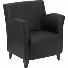 Flash Furniture HERCULES Roman Series Brown Leather Reception Chair Model ZB-ROMAN-BLACK-GG